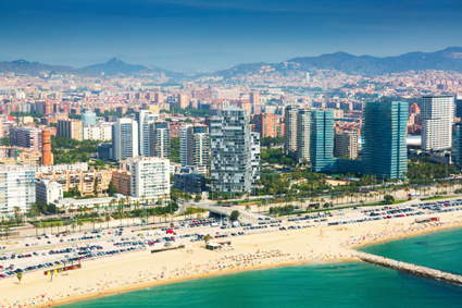 "Relax on the sandy beaches of ""Barceloneta"" (on the metro"